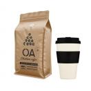 Kinkekomplekt jõuluks: 400ml kohvitops + 500g OA kohviuba kardemoniga