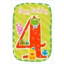 ARTE õnnitluskaart 4. aastasele lapsele*