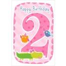 *ARTEBENE õnnitluskaart 2. aastasele tüdrukule