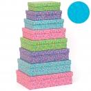 ARTEBENE kinkekarp Värvilised täpid/lilla 28x19,5x7,5cm