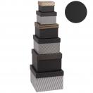 ARTEBENE kinkekarp Black Label kuldsete triipudega 12,4x12,4x11,3cm