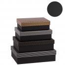 ARTE kinkekarp Black Label kuldne 22x15.5x6cm