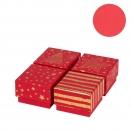 ARTE kinkekarp Punane Tähed/Kuusk/Triibud 6x6x4cm assortii