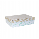 ARTE kinkekarp Valge täpid/triibud 24x17,5x6,5cm