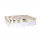 ARTE kinkekarp Valge täpid/triibud 28x19,5x7,5cm