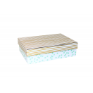 ARTE kinkekarp Valge täpid/triibud 18x12,5x5cm