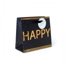 ARTE kinkekott Black Lable happy 18x16x8cm