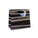 ARTE kinkekott Black Lable triibud 18x16x8cm