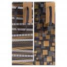 ARTE kinkekott pudelile Black Label kuldne/hall ruudud 12x35x8cm