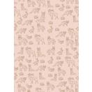 ARTE kinkepaber leht Origami loomad roosa 70x100cm*