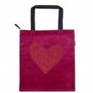 ARTE tekstiilkott lukuga We Love punane südamega 40x45cm