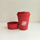 Ecoffee Wood kohvitops 350 Yes I Can punane
