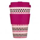 Ecoffee kohvitops 400ml Pink Polka*