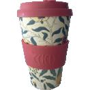 *Ecoffee Cup kohvitops 400ml William Morris Pomme- punane silikoon