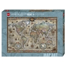 Heye pusle 1000 MAP Retro World