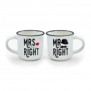LEGAMI espressokruuside komplekt 50ml x 2tk Mr and Mrs