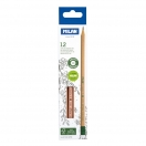 MILAN harilik pliiats HB kustutuskummiga 12tk pakis FSC