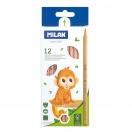 MILAN värvilised pliiatsid 12tk pakis FSC