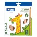 MILAN värvilised pliiatsid MAXI 12tk pakis FSC