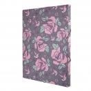 *MILAN dokumendi kaaned 33,5x26x2,5 cm Flowers Pink