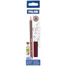 MILAN harilik pliiats kolmnurkne HB, 12 tk karbis