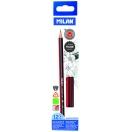 MILAN harilik pliiats kustukummiga kolmnurkne HB, 12 tk karbis