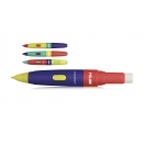 MILAN mehhaaniline pliiats 2B 0,7 mm+kumm, värviline assortii*