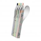 MILAN pastapliiatsite komplekt 4tk erinevad värvid Silver*