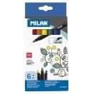 MILAN tekstiilimarkerid 6 värvi*