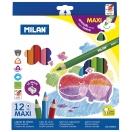 MILAN värvipliiats kolmnurkne 12 värvi MAXI