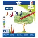 MILAN värvipliiats kolmnurkne 24 värvi Puu