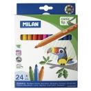 MILAN viltpliiats 24 värvi papagoi
