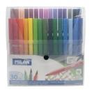 *MILAN viltpliiats 30 värvi läbipaistev plastikkarp