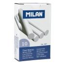 MILAN tahvlikriidid valged 10 tk