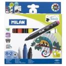 MILAN viltpliiats maxi magic 8+2 värvimuutvad