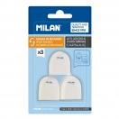 MILAN kustuskummide varukomplekt 3tk kõikidele MILAN Capsule kustutuskumm+teritajatele*