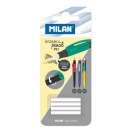 MILAN varu kustutuskummid mehhaanilistele pliiatsitele Capsule ja PL1 4tk*