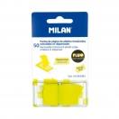 MILAN märkmelehed läbipaistvad 45x25mm kollane*