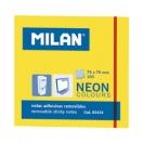 MILAN märkmepaber 7,6x7,6cm neoonkollane