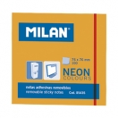 MILAN märkmepaber 7,6x7,6cm neoonoranž