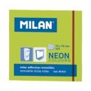 MILAN märkmepaber 7,6x7,6cm neoonroheline